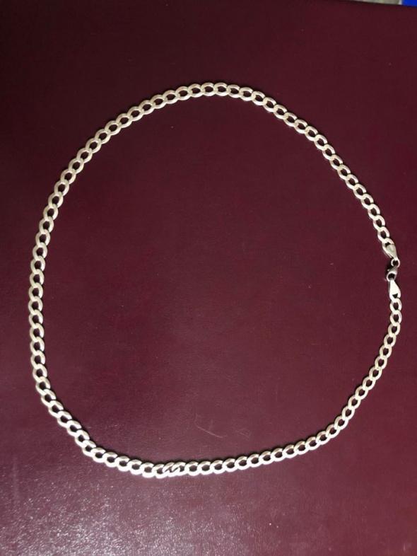 Śliczny srebrny łańcuszek 925