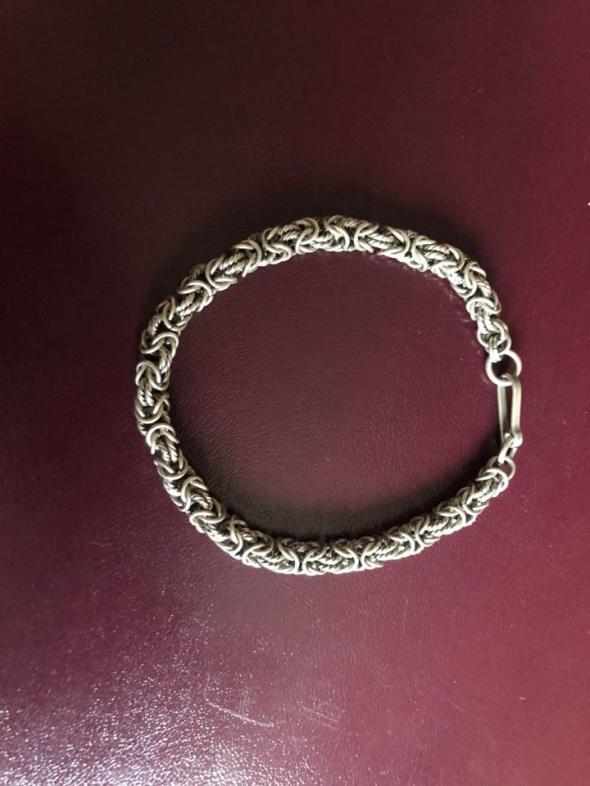 Prześliczna masywna srebrna bransoletka 925