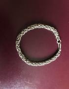 Prześliczna masywna srebrna bransoletka 925...