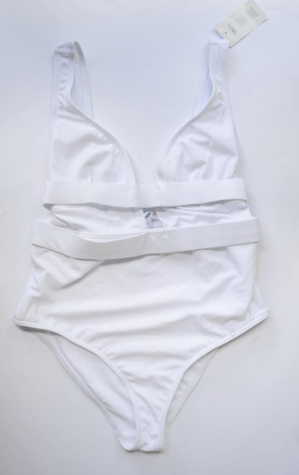 Strój Kostium Kąpielowy Biały ASOS 75E NOWY Wycięcia Sexy