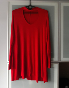Czerwona sukienka Bershka choker rozmiar M...