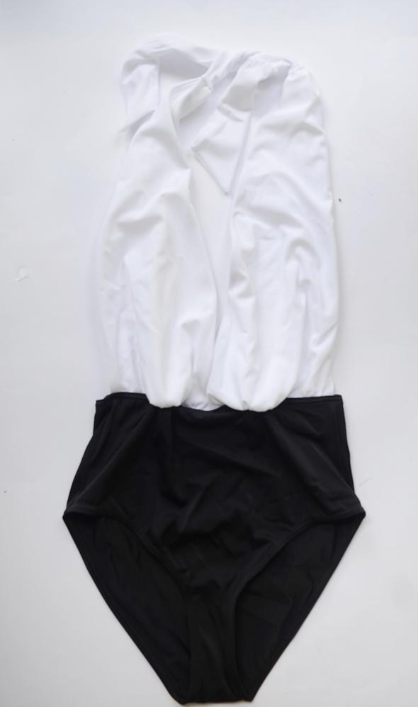 Strój Kostium Kąpielowy New Look M 38 NOWY Czarny Biały