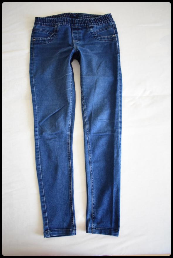Elastyczne damskie jeansy na gumce 38 M ciemny granat