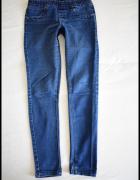 Elastyczne damskie jeansy na gumce 38 M ciemny granat...
