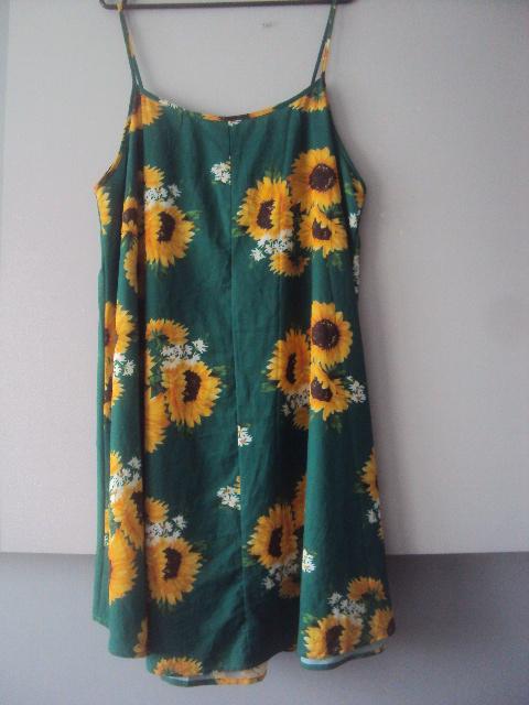 letnia sukienka w słoneczniki