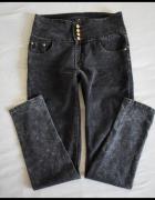 Elastyczne spodnie jeansowe wysoki stan rozmiar 40 L...