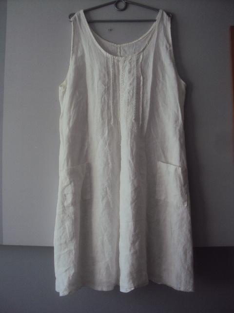 lniana trapezowa sukienka
