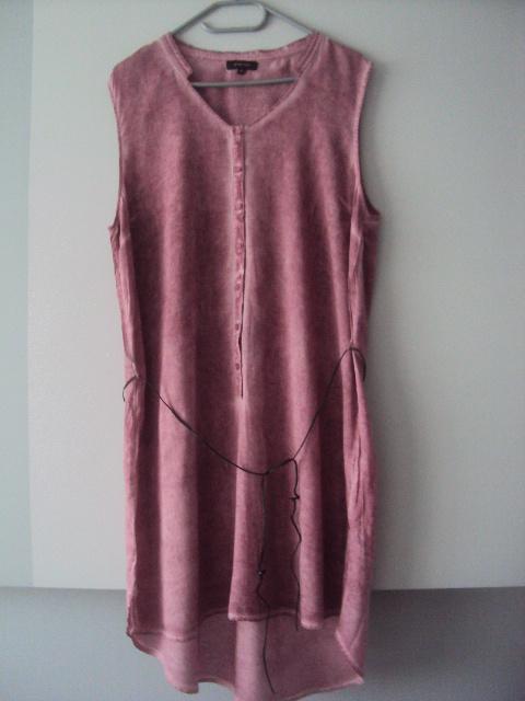 trapezowa cieniowana sukienka