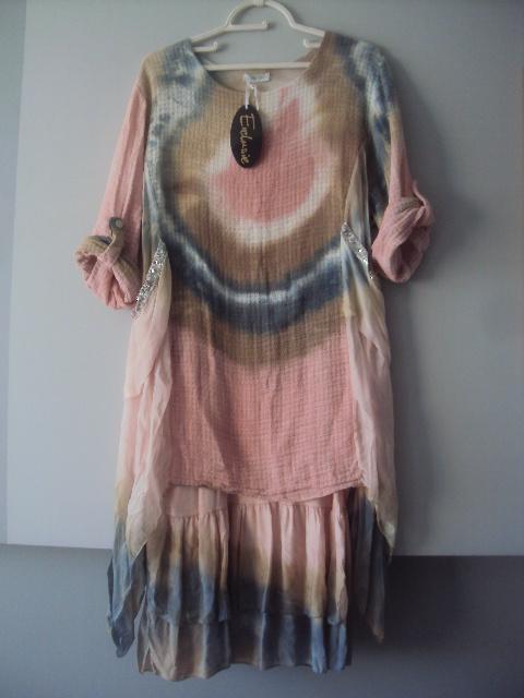 włoska sukienka z jedwabiem