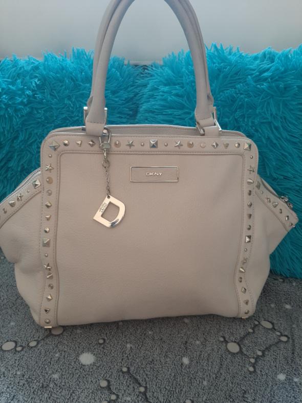 Oryginalna skórzana torba DKNY skóra naturalna...
