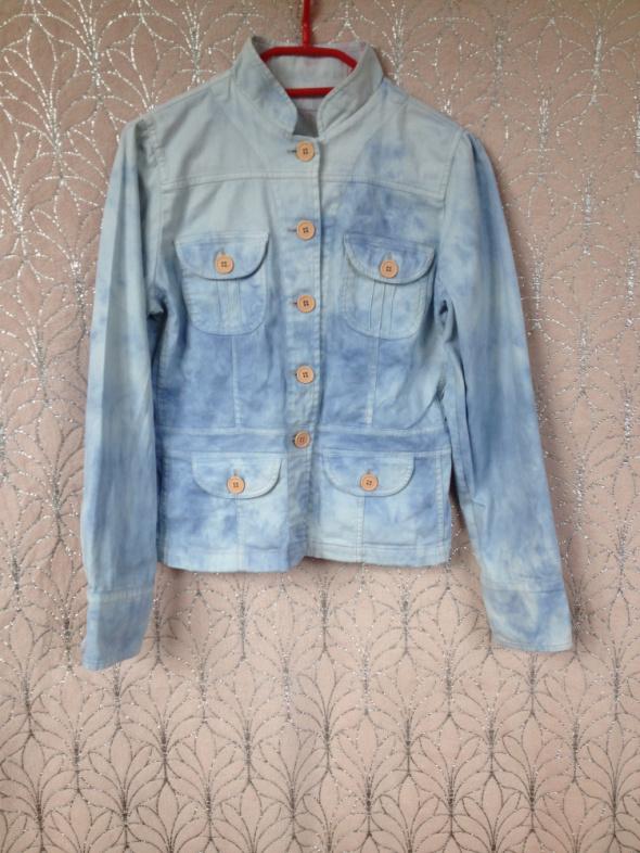 katana jeansowa jasnoniebieska z efektem tie dye handmade diy XS S M 34 36 38 używana tania