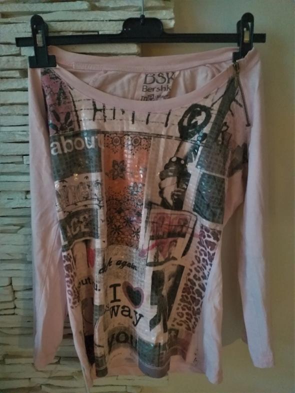 różowa bluzeczka Bershka