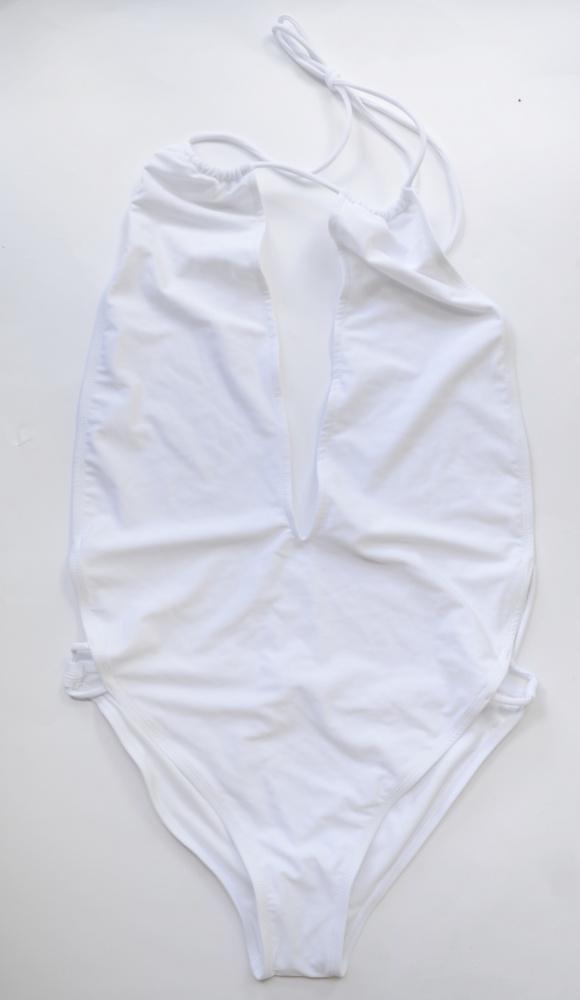 Strój Kostium Kąpielowy NOWY Biały Sznurki Sexy M 38 Motel