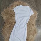 Sukienka żebrowana prążkowana krótki rękawek rozmiar XS S