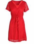 Czerwona Sukienka Koronkowa S M...
