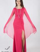 Luksusowa sukienka w różowym kolorze szyta na miarę De Marco...