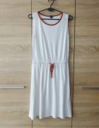ESMARA biała letnia sukienka 38 M