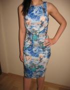Niebieska obcisła sukienka Miss Selfridge XS 34...