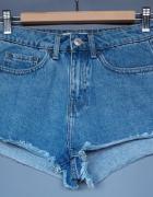 szorty jeans Tally Weijl spodenki wysokim stanem 34