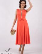 Zmysłowa sukienka pomarańczowa na bal De Marco...