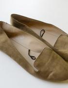 Mokasyny Balerinki Brązowe H&M 41 Brąz Karmelowe 27 cm...