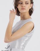 Sukienka ołówkowa w srebrnym kolorze Szycie na miarę De Marco...