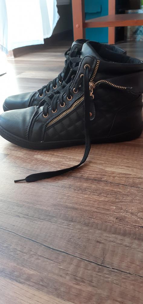 Sportowe Buty sneakersy rozmiar 41 złoty zamek płaskie