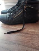 Buty sneakersy rozmiar 41 złoty zamek płaskie...