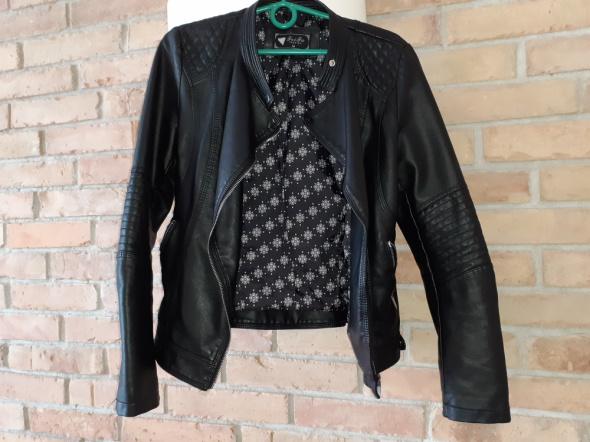 Czarna ramoneska kurtka pikowana M zamki modna...