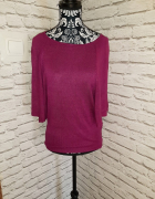 Idealna fioletowa bluzka sweterek nietoperz...