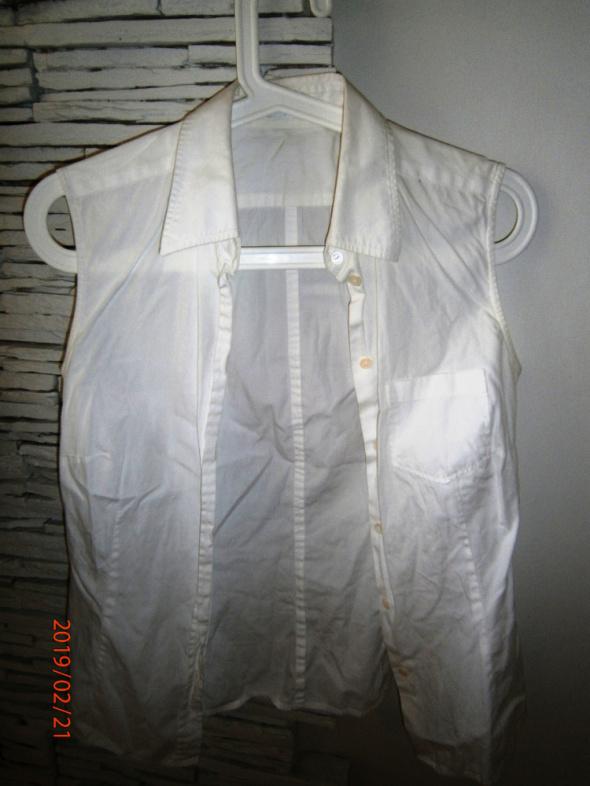 Bluzki biała bluzka bez rękawów