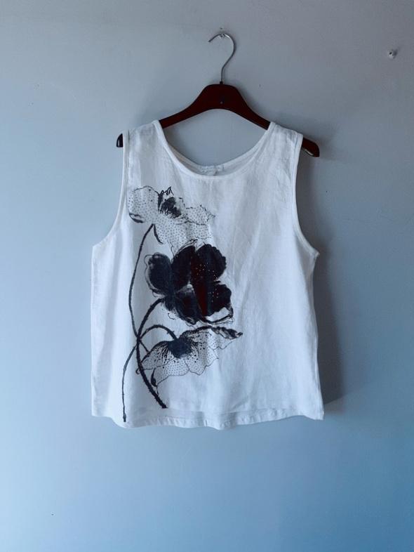 Idealna biała bluzka na ramiączka L...