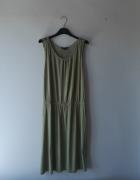 Idealna ciemnozielona sukienka 40 L