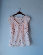 Bluzeczka w jaskółki Bershka M...