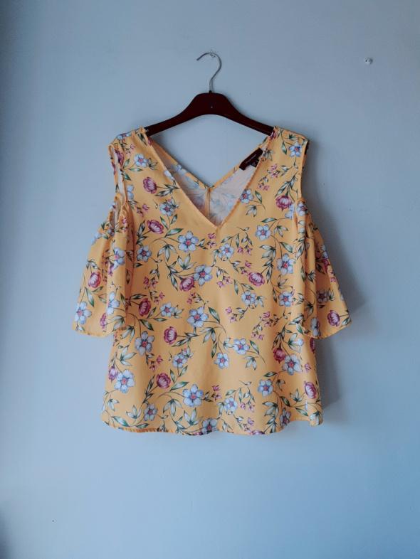 Idealna żółta bluzka w kwiaty Atmosphere S...