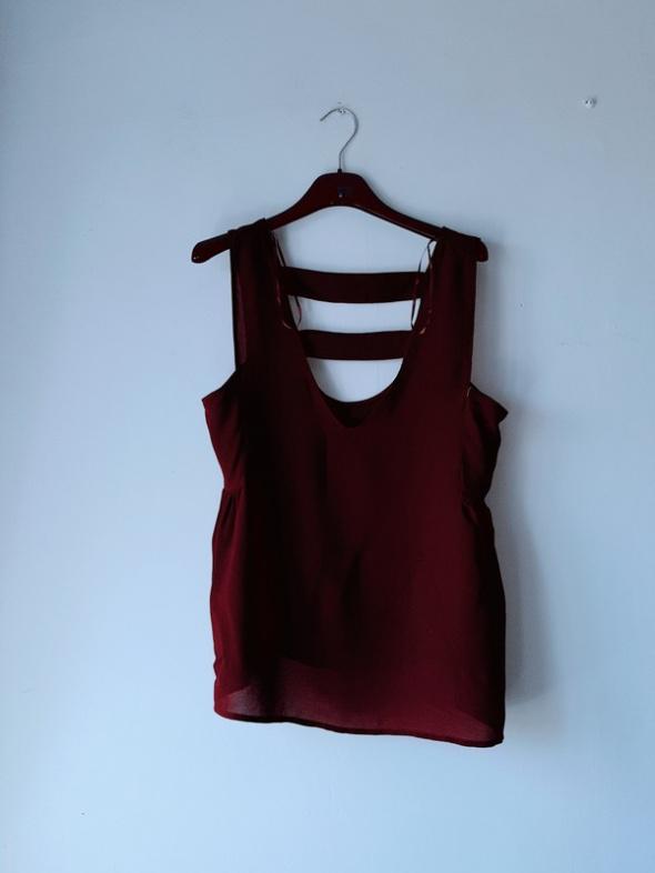 Brązowa bluzka na ramiączka Zara S...