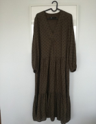 Dluga sukienka w kropki Zara