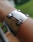 Stara niemiecka bransoletka srebro młotkowane...
