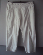 białe letnie spodnie...