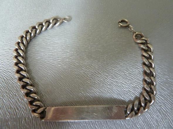 srebra bransoletka Warmet z blaszką