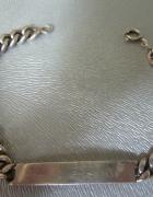 srebra bransoletka Warmet z blaszką...