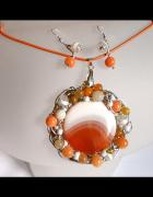 Ekskluzywna biżuteria artystyczna wisior i kolczyki...