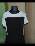 Sukienka dwukolorowa czarno biała tulipan Dorothy Perkins 44...