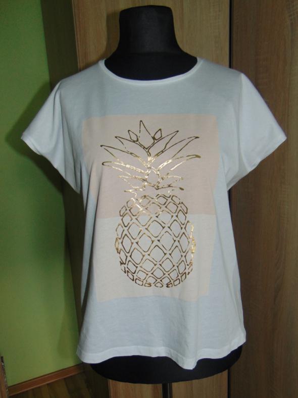 Biała bluzka ananas XXL