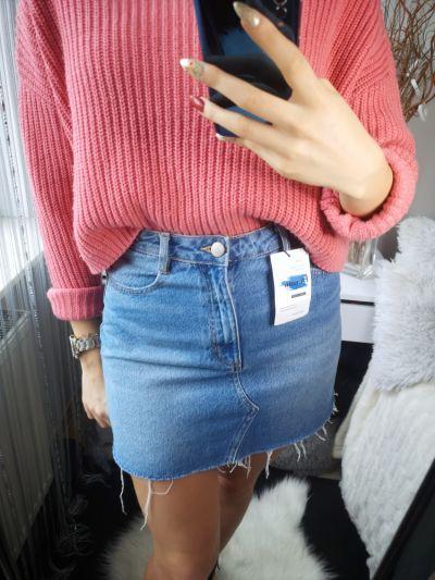 Spódnice Sinsay Spódnica damska jeansowa nowa M 38