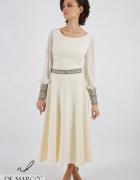 Maksi sukienka wizytowa na wesele lub bal Szycie na miarę De Ma...