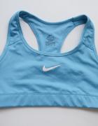 Biustonosz Nike Dri Fit XS 34 Sportowy Niebieski Stanik Fitness...