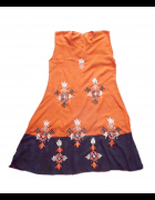 boho sukienka boho tunika pomarańczowa tunika...