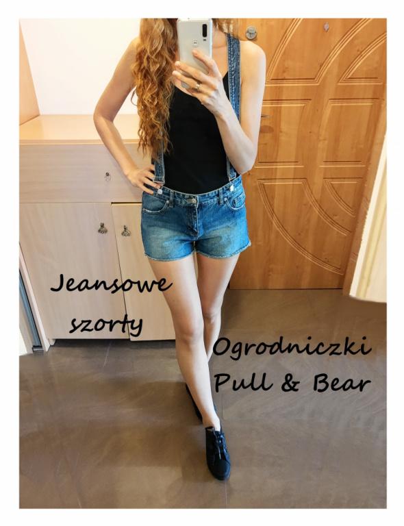 Jeansowe spodenki ogrodniczki Pull Bear XS S M...