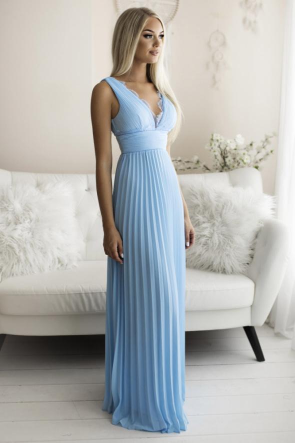 Piękna ekskluzywna plisowana sukienka S M L kolory